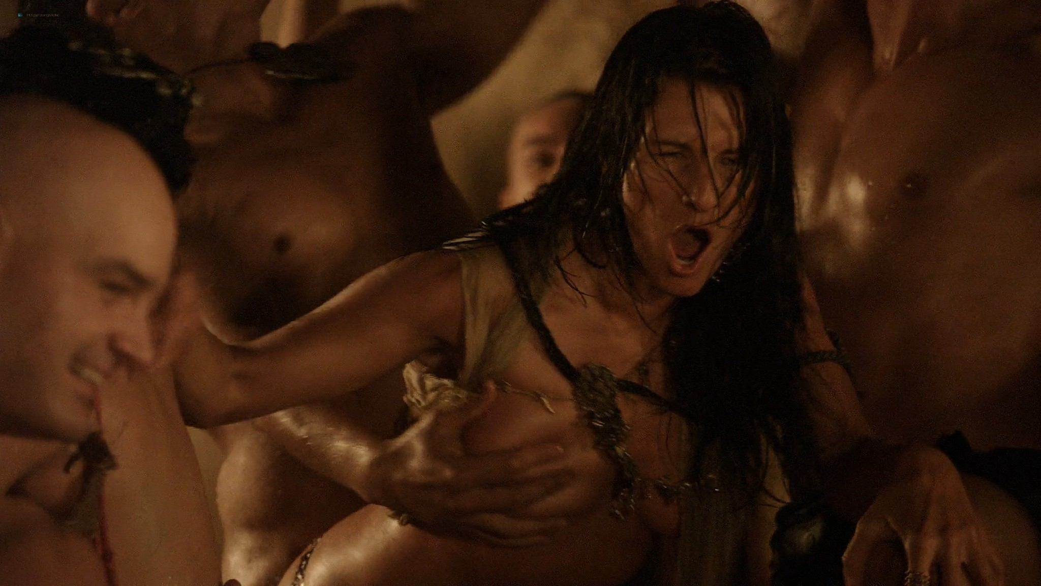 Lucy Lawless nude Lesley-Ann Brandt and other nude sex too - Spartacus (2010) Delicate Things s1e6 HD 1080p BluRay (3)