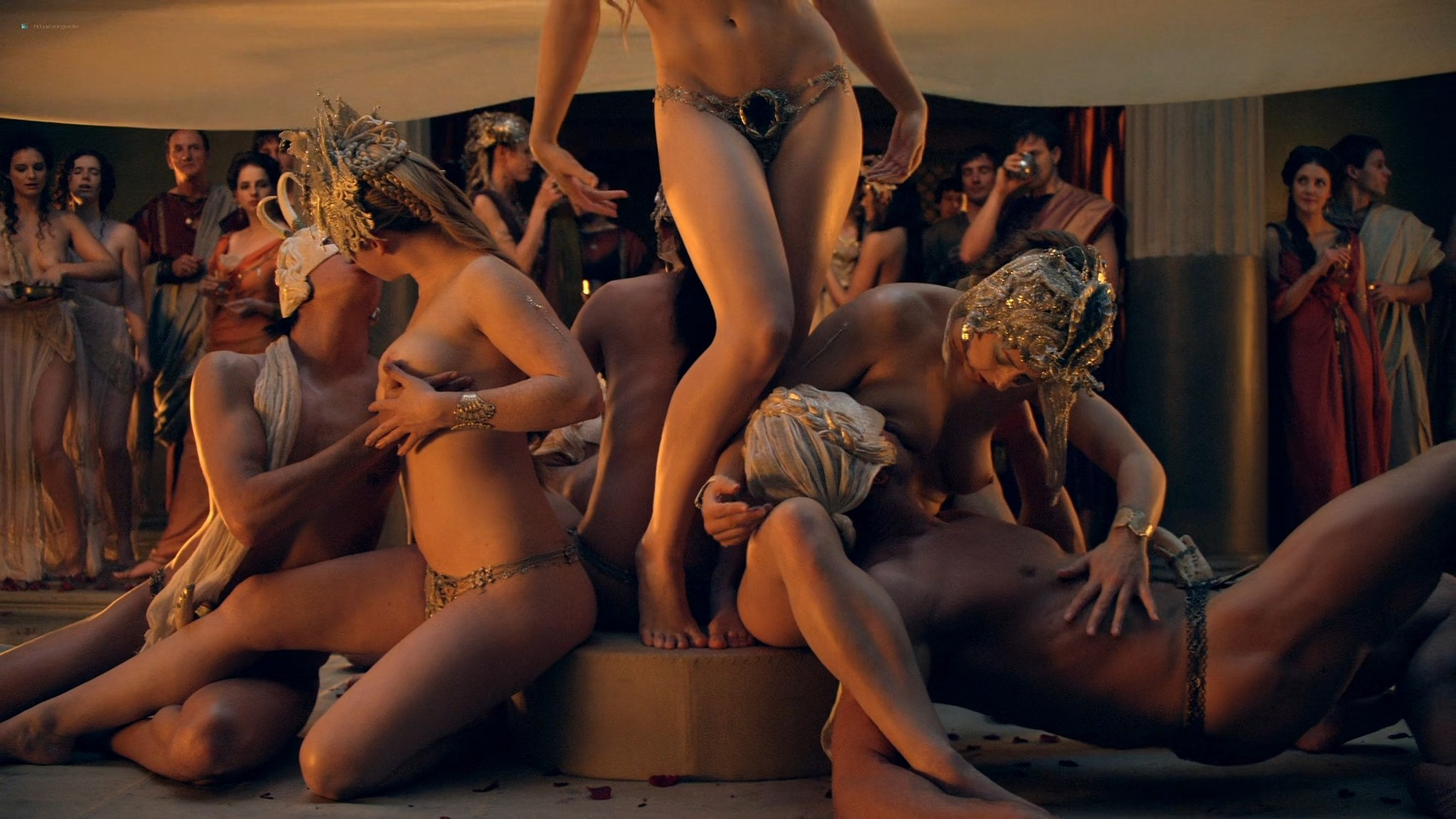 Viva Bianca nude Lucy Lawless nude sex others nude - Spartacus - Vengeance (2012) e4 1080p BluRay (12)