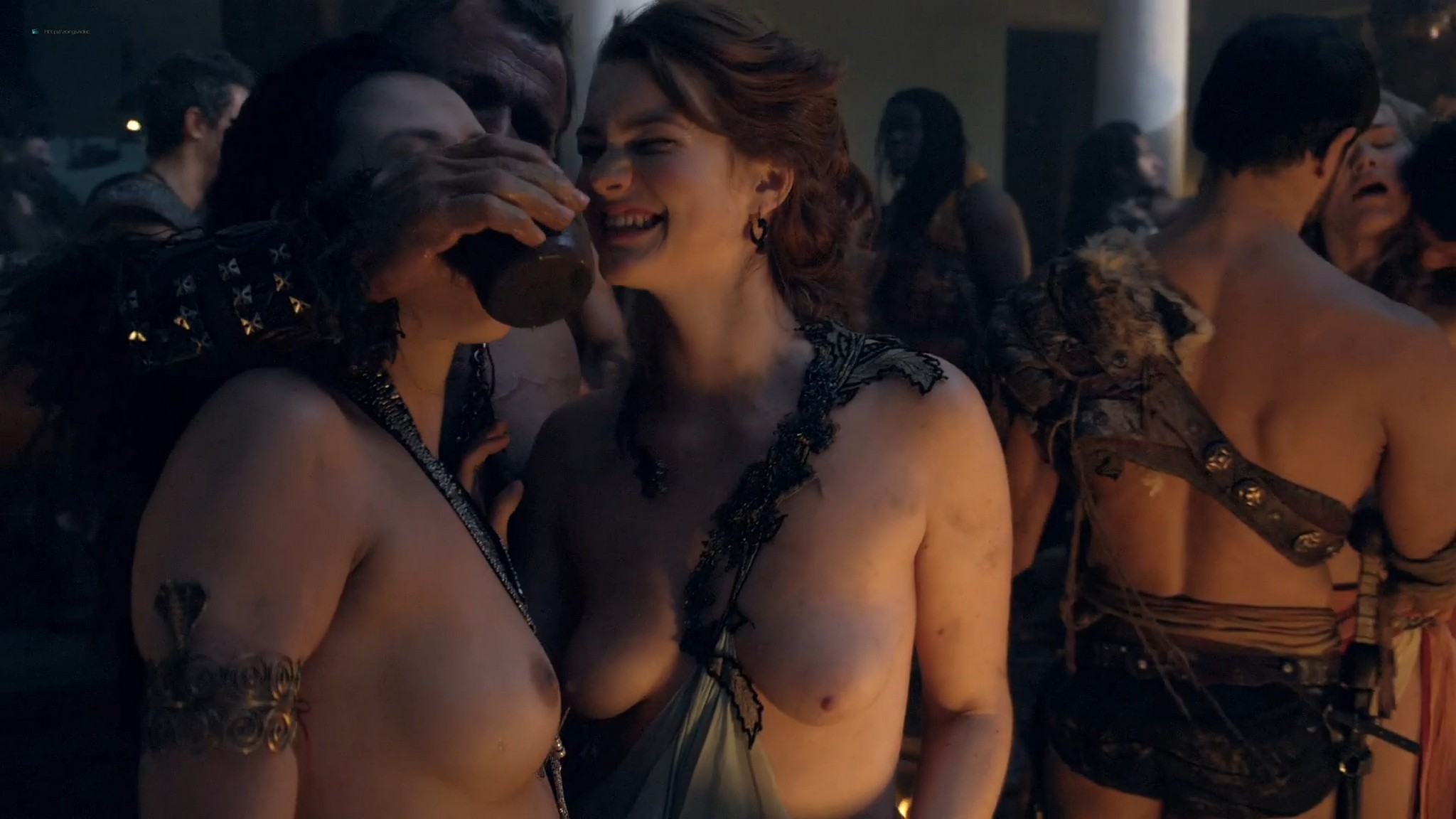 Gwendoline Taylor nude full frontal Jenna Lind Ellen Hollman and others nude sex too Spartacus 2013 HD 1080p BluRay 001