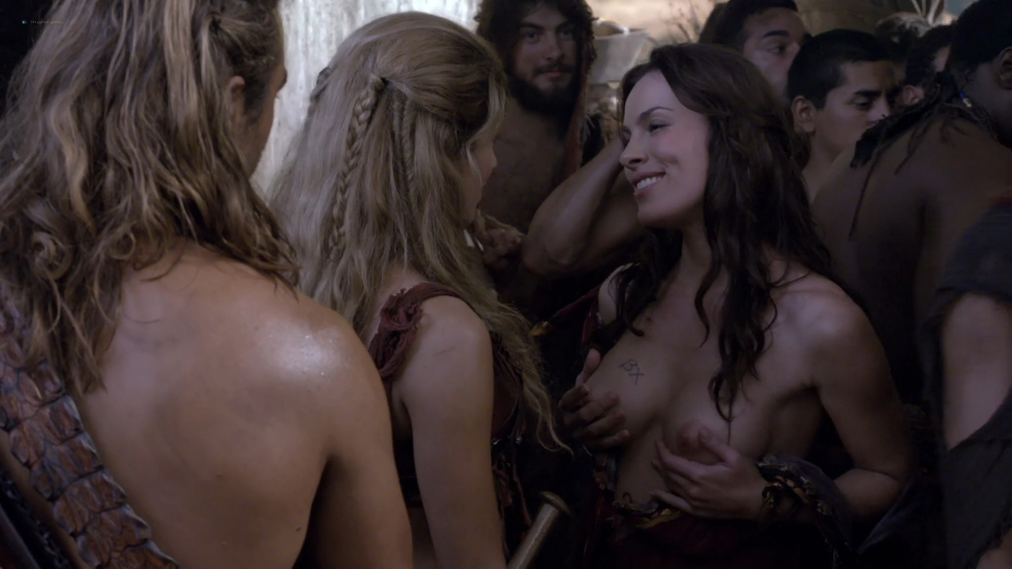 Gwendoline Taylor nude full frontal Jenna Lind Ellen Hollman and others nude sex too Spartacus 2013 HD 1080p BluRay 008