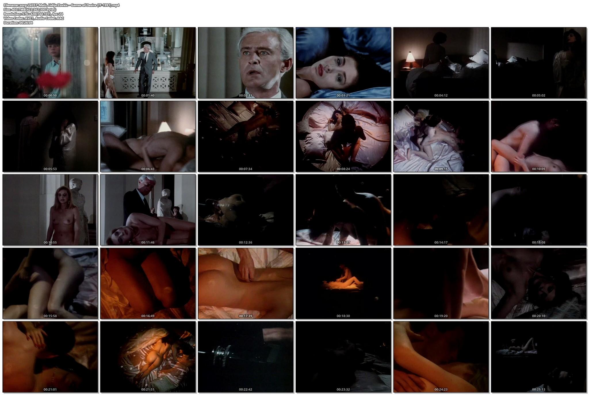 Malu nude full frontal and sex Lidija Zovkic Games of Desire IT 1991 VHSrip 017