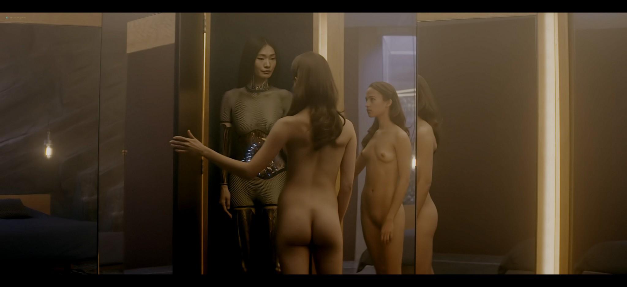 Alicia Vikander nude full frontal Sonoya Mizuno nude bush and others nude Ex Machina 2015 UHD 2160 1080p 014
