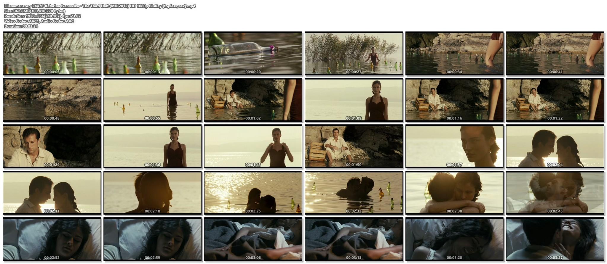 Katarina Ivanovska nude topless and sex The Third Half MK 2012 HD 1080p BluRay 012
