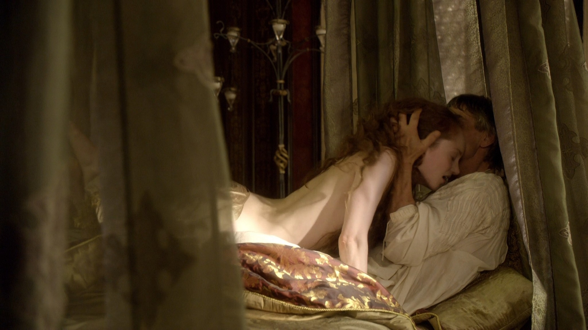 Lotte Verbeek nude Montserrat Lombard sex The Borgias 2011 s1e1 HD 1080p 008