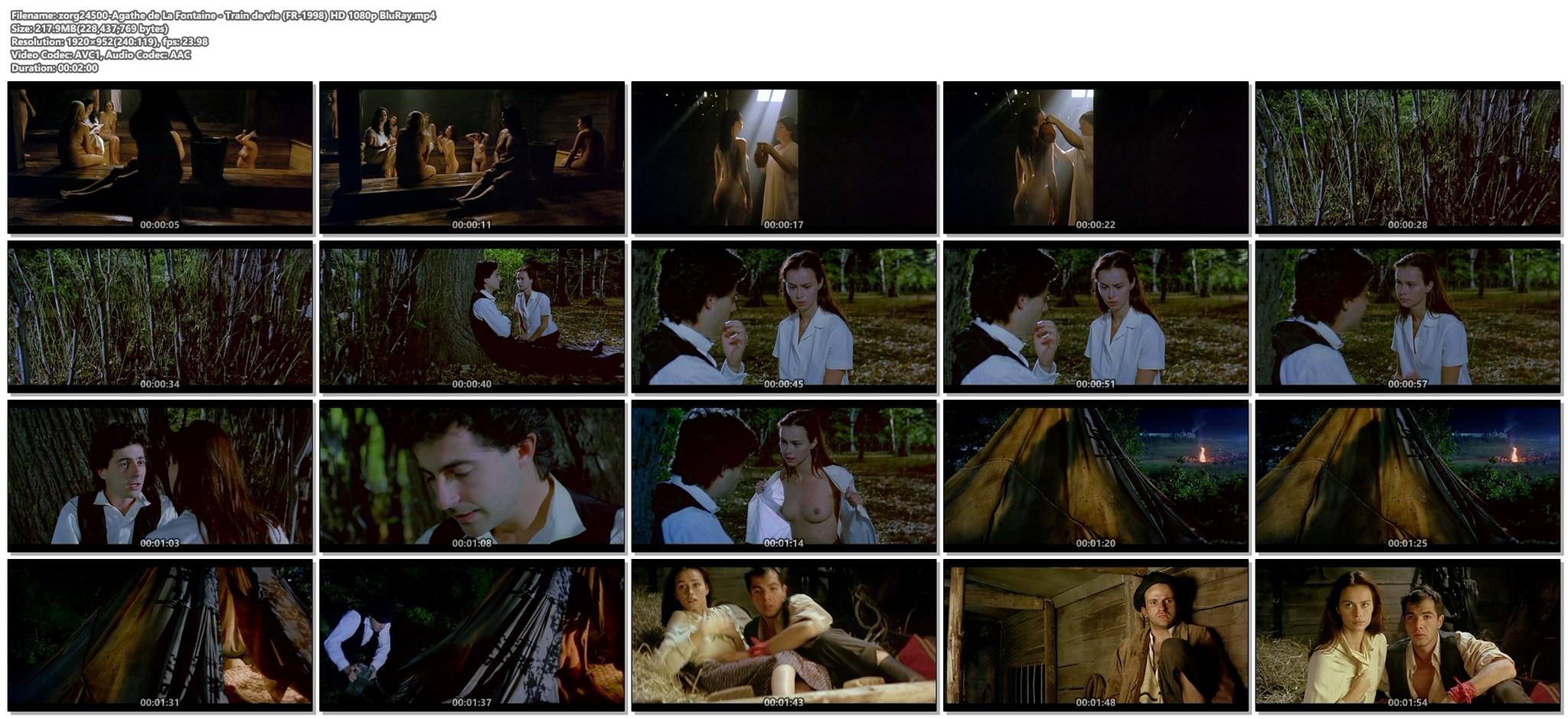 Agathe de La Fontaine nude bush another nude full frontal Train de vie FR 1998 HD 1080p BluRay 013