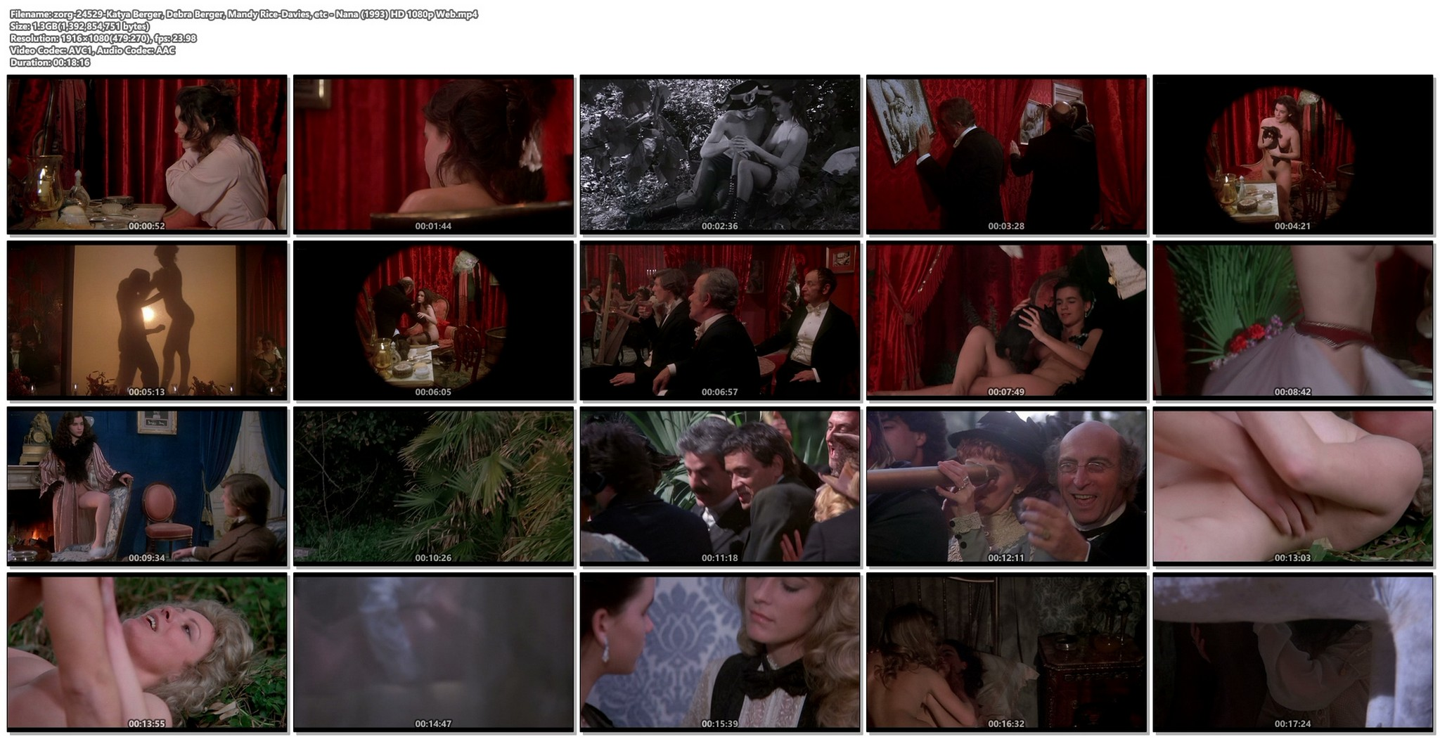 Katya Berger nude full frontal Debra Berger Mandy Rice Davies Annie Belle etc nude too Nana 1993 HD 1080p Web 019