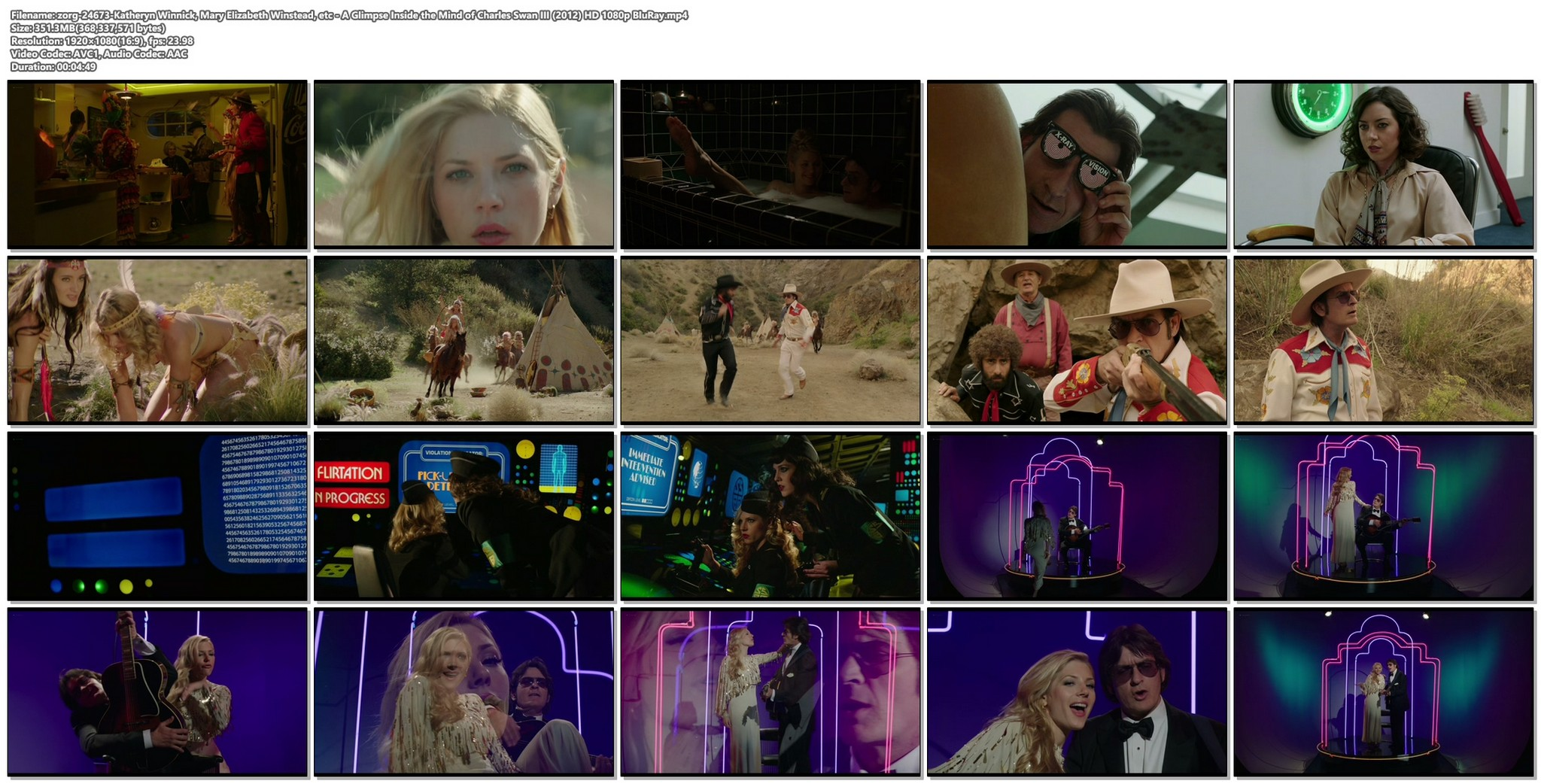 Katheryn Winnick sexy Mary Elizabeth Winstead and other hot A Glimpse Inside the Mind of Charles Swan III 2012 HD 1080p BluRay 016