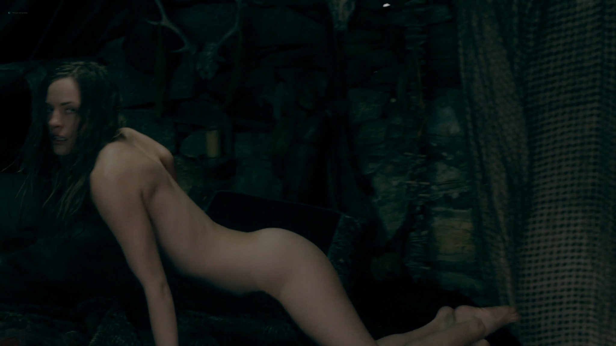 Lucy Martin nude and some sex Vikings 2020 S6 HD 1080p 04
