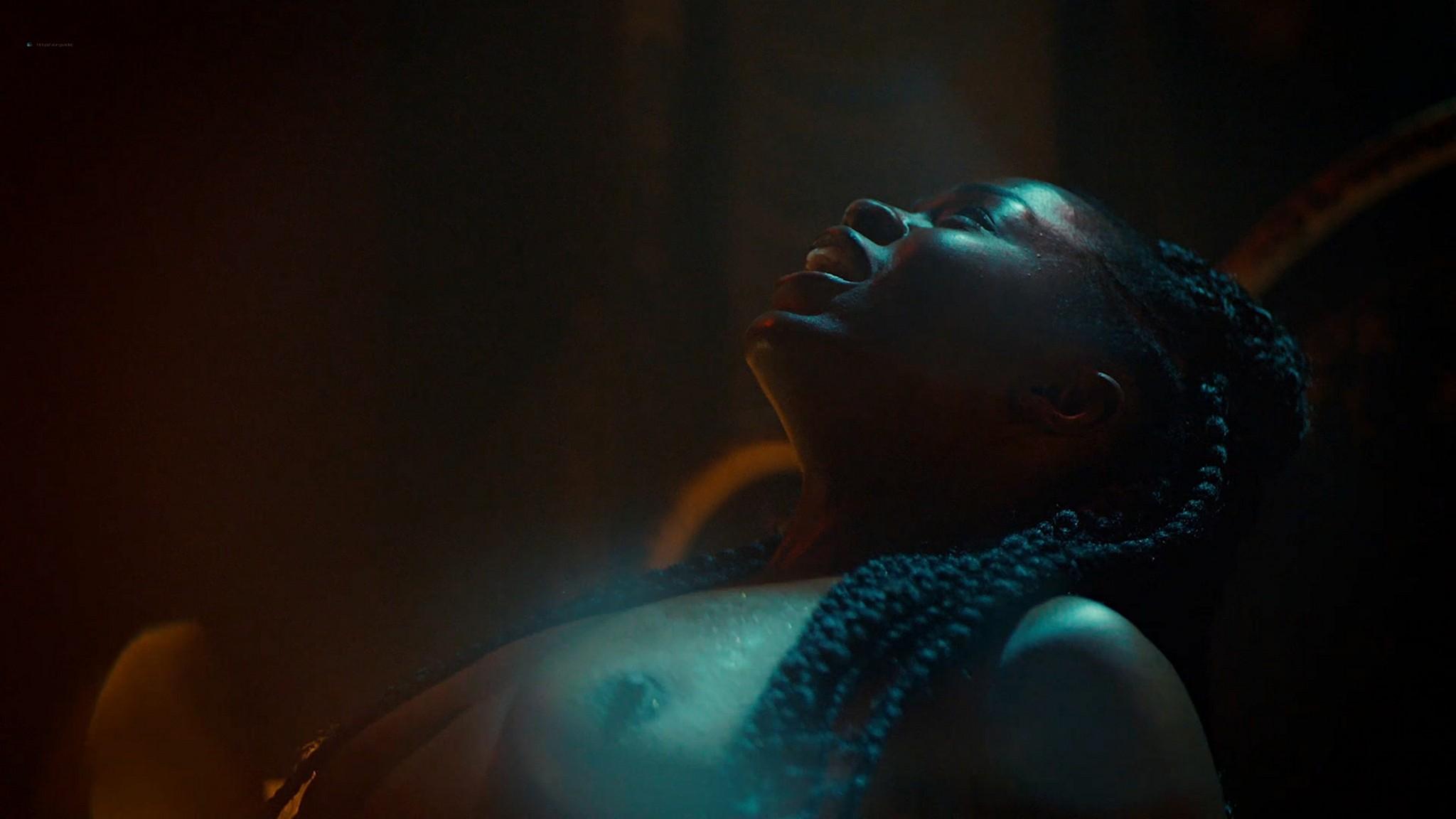 Yetide Badaki nude bush and topless American Gods 2020 s3e2 HD 1080p 06
