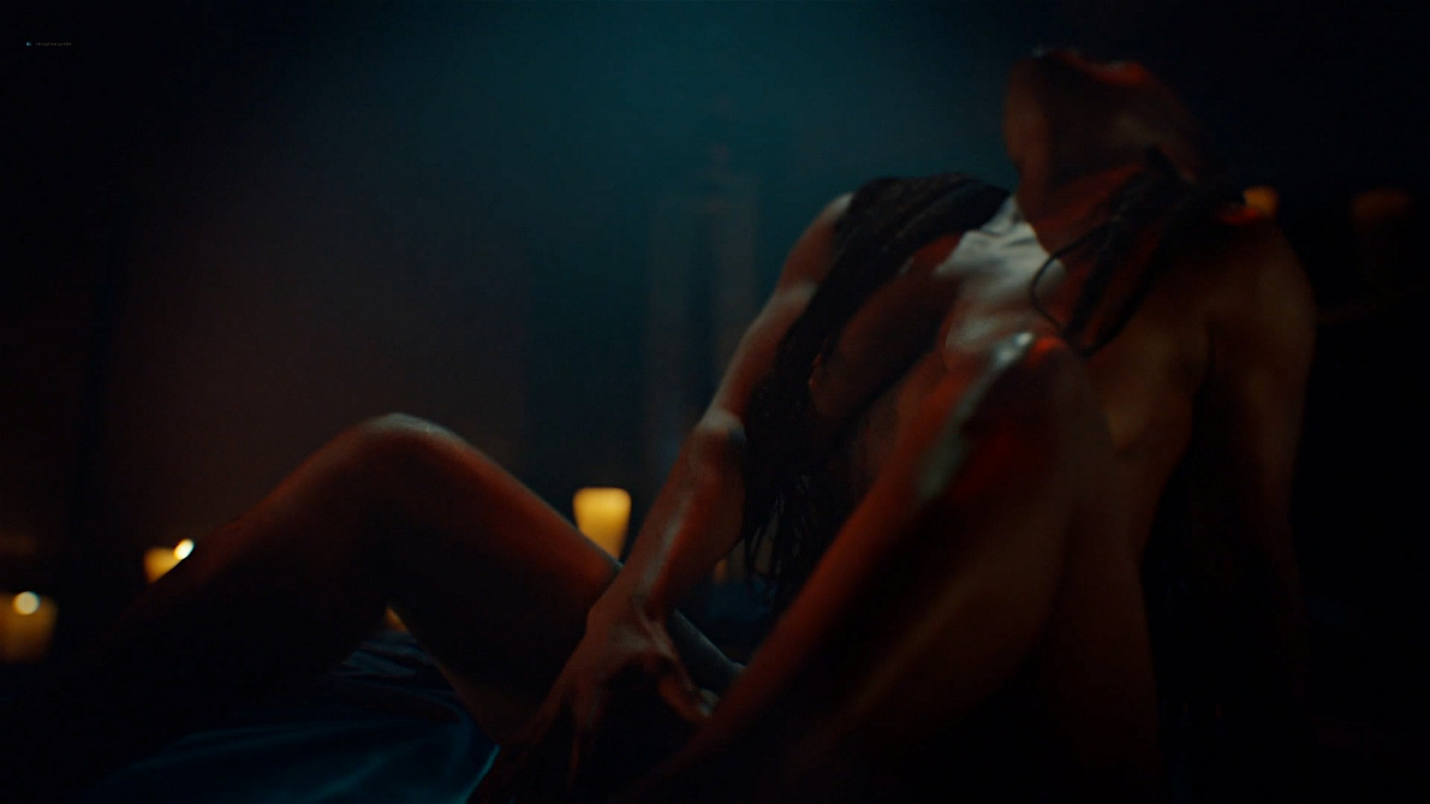 Yetide Badaki nude bush and topless American Gods 2020 s3e2 HD 1080p 09