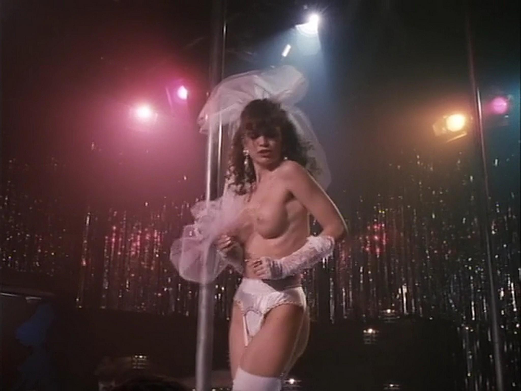 Barbara Alyn Woods nude Catya Sassoon Jill Pierce nude too as strippers Dance with Death 1991 4