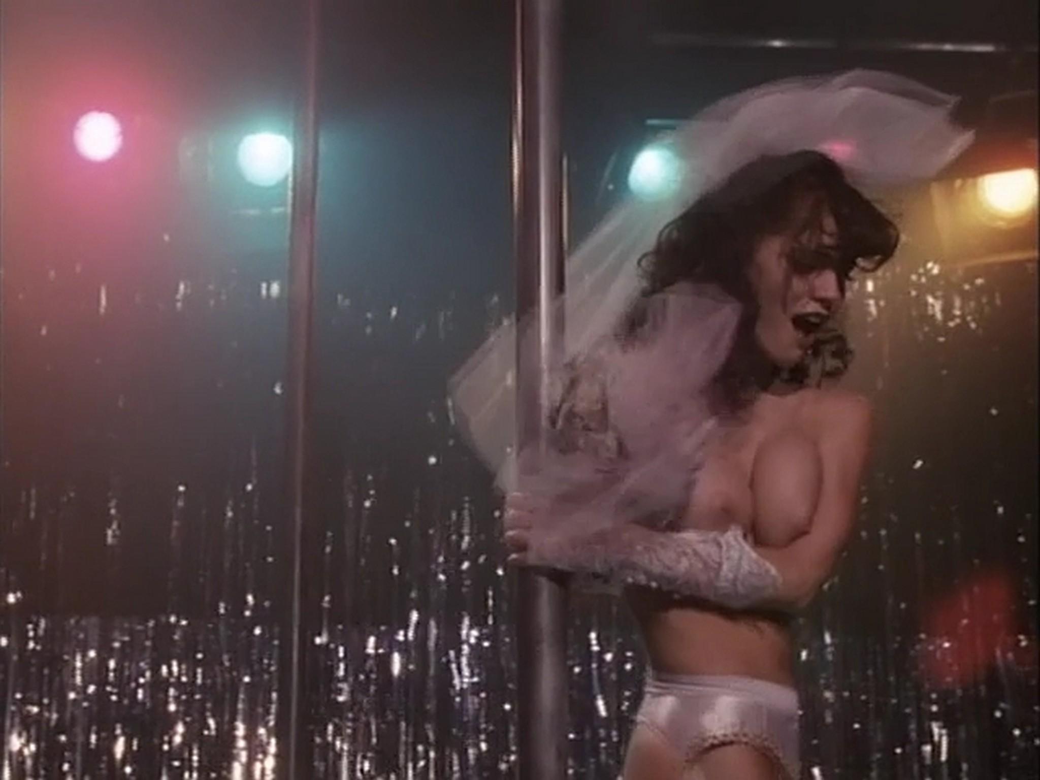 Barbara Alyn Woods nude Catya Sassoon Jill Pierce nude too as strippers Dance with Death 1991 5