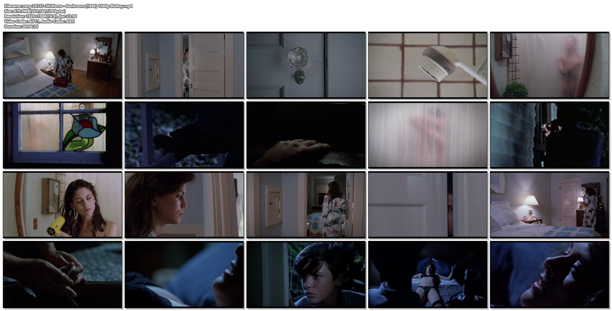 Jill Pierce nude in the shower and bound Darkroom 1988 1080p BluRay 14