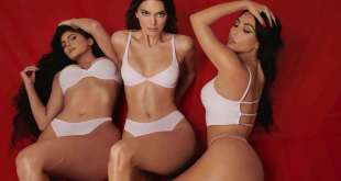Kendall Jenner Kylie Jenner and Kim Kardashian in Photoshoot for SKIMS 2