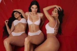Kendall Jenner Kylie Jenner and Kim Kardashian in Photoshoot for SKIMS 2