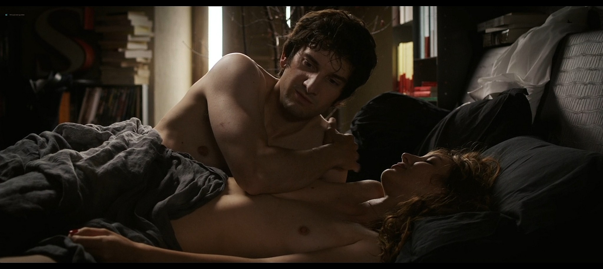 Louise Bourgoin nude and sex and Elisa Sednaoui nude LAmour Dure Trois Ans 2012 1080p BluRay 9