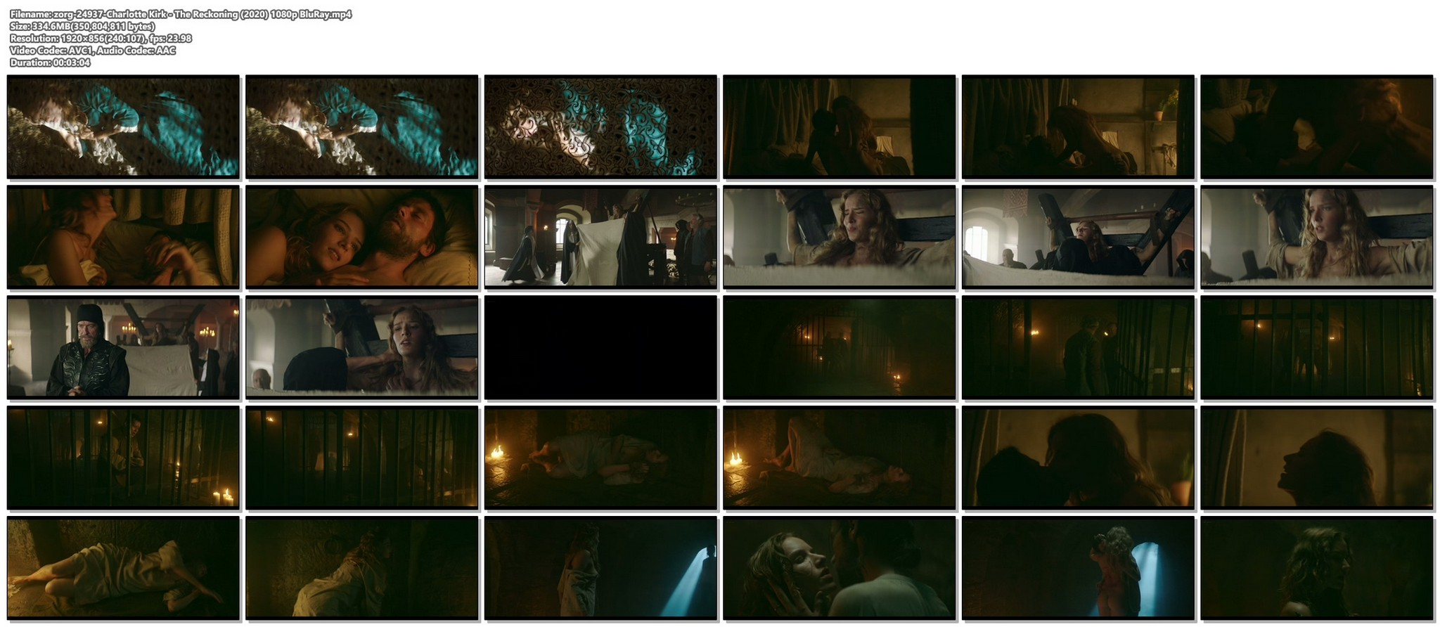 Charlotte Kirk nude butt naked and sex The Reckoning 2020 1080p BluRay 14