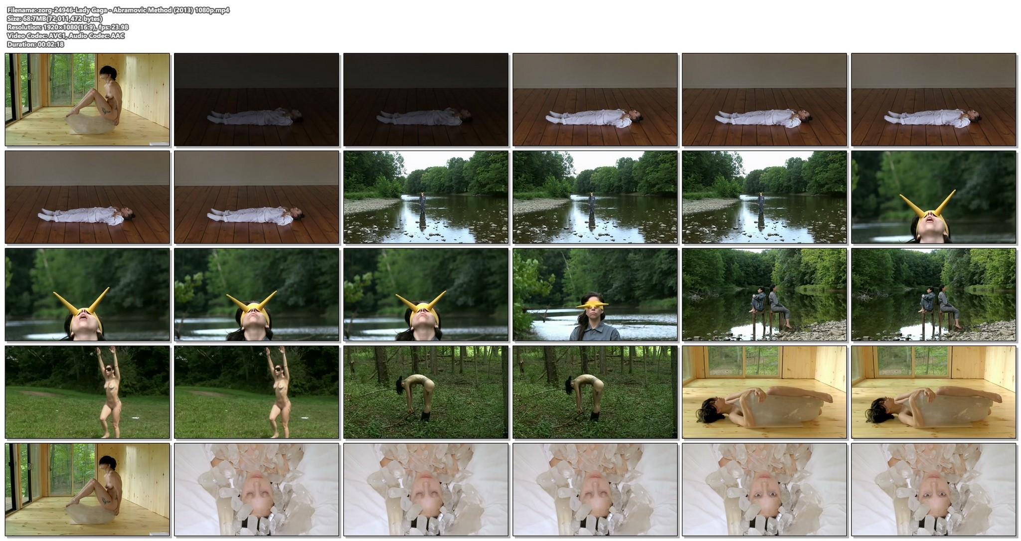 Lady Gaga nude full frontal Abramovic Method 2013 1080p 11