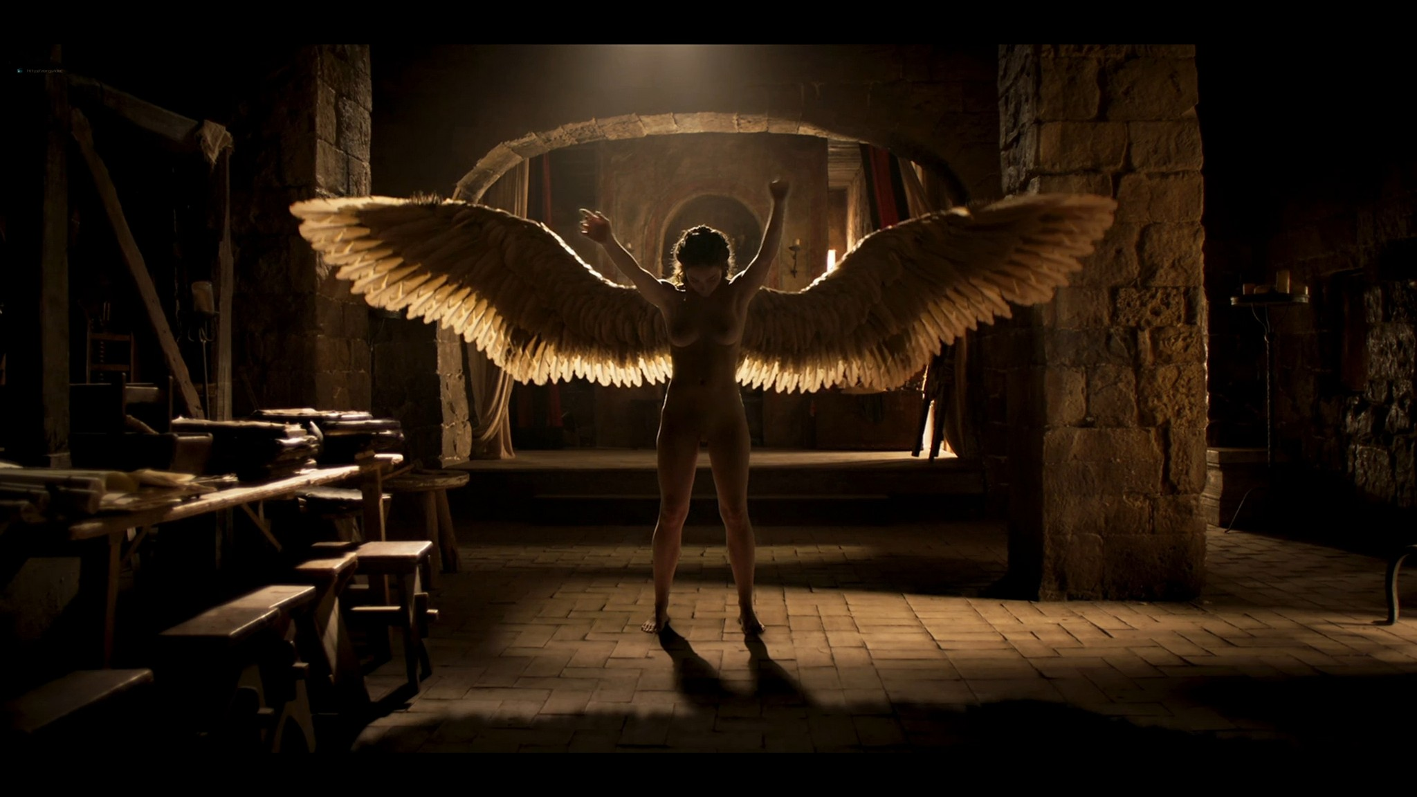 Matilda De Angelis nude full frontal Leonardo 2021 S1 1080p Web 13
