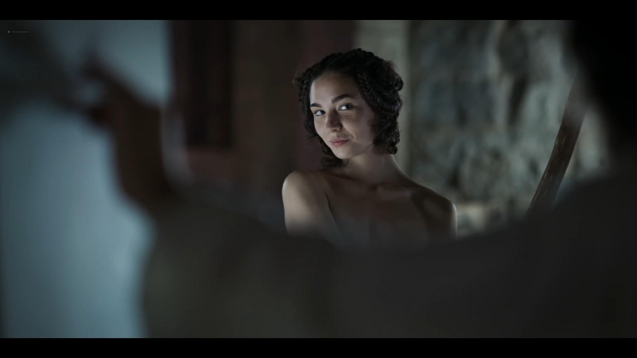 Matilda De Angelis nude full frontal Leonardo 2021 S1 1080p Web 17