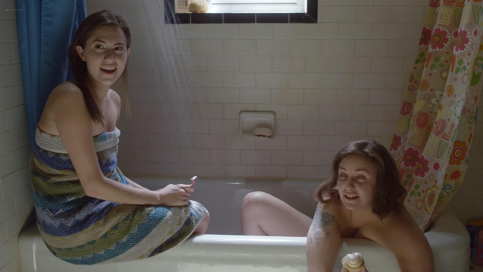 Allison Williams sex doggy style Lena Dunham nude Girls 2012 s1e1 2 1080p Web 2