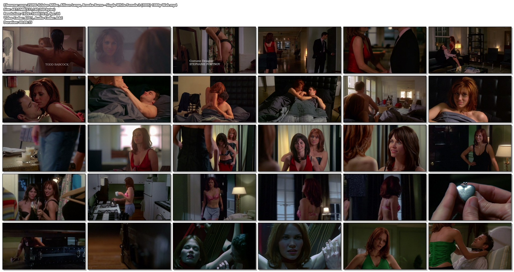 Kristen Miller hot and sex Allison Lange Brooke Burns sexy and some sex too Single White Female 2 2005 1080p Web 15