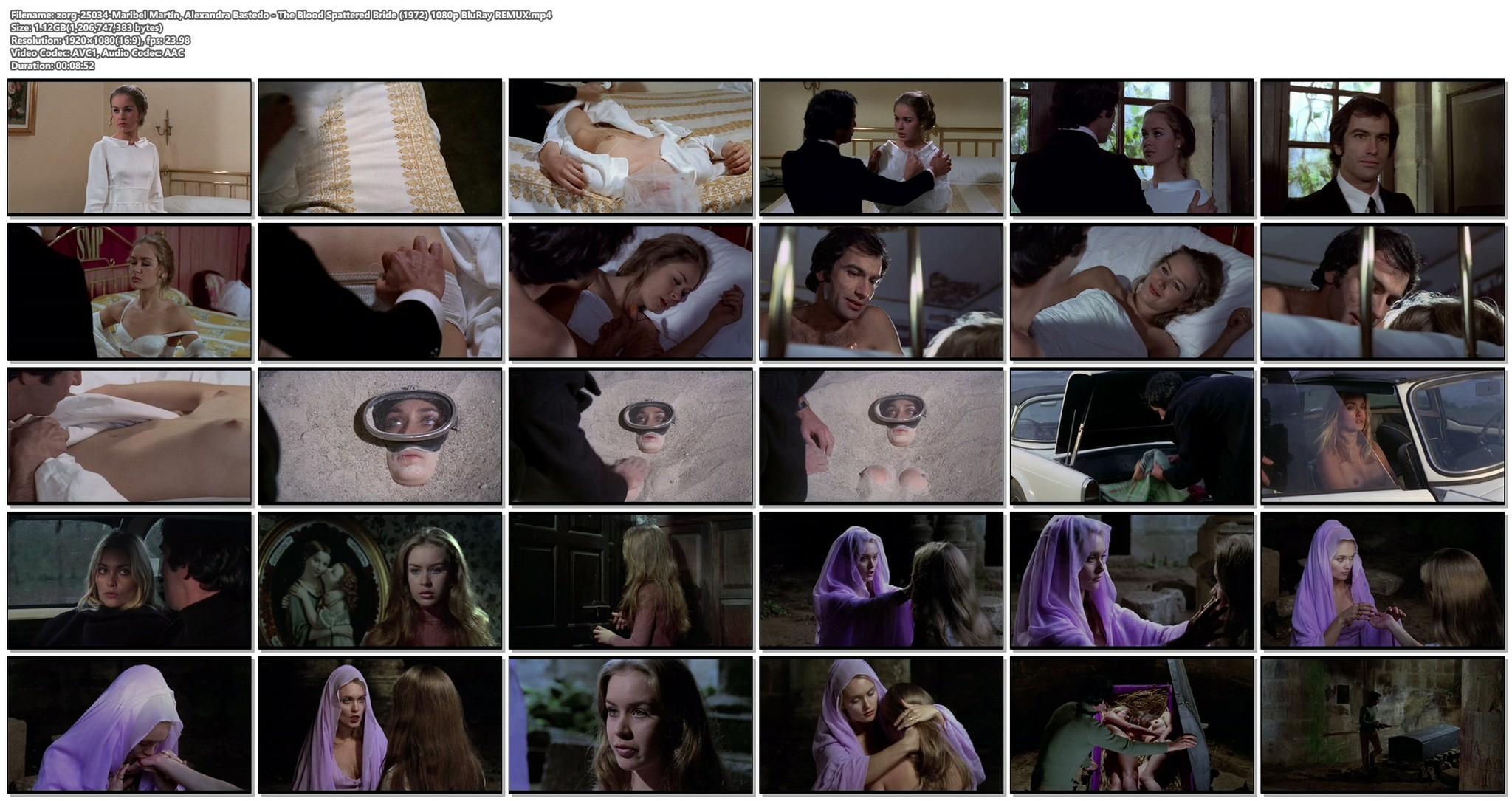 Maribel Martin nude bush Alexandra Bastedo nude The Blood Spattered Bride 1972 1080p BluRay REMUX 18