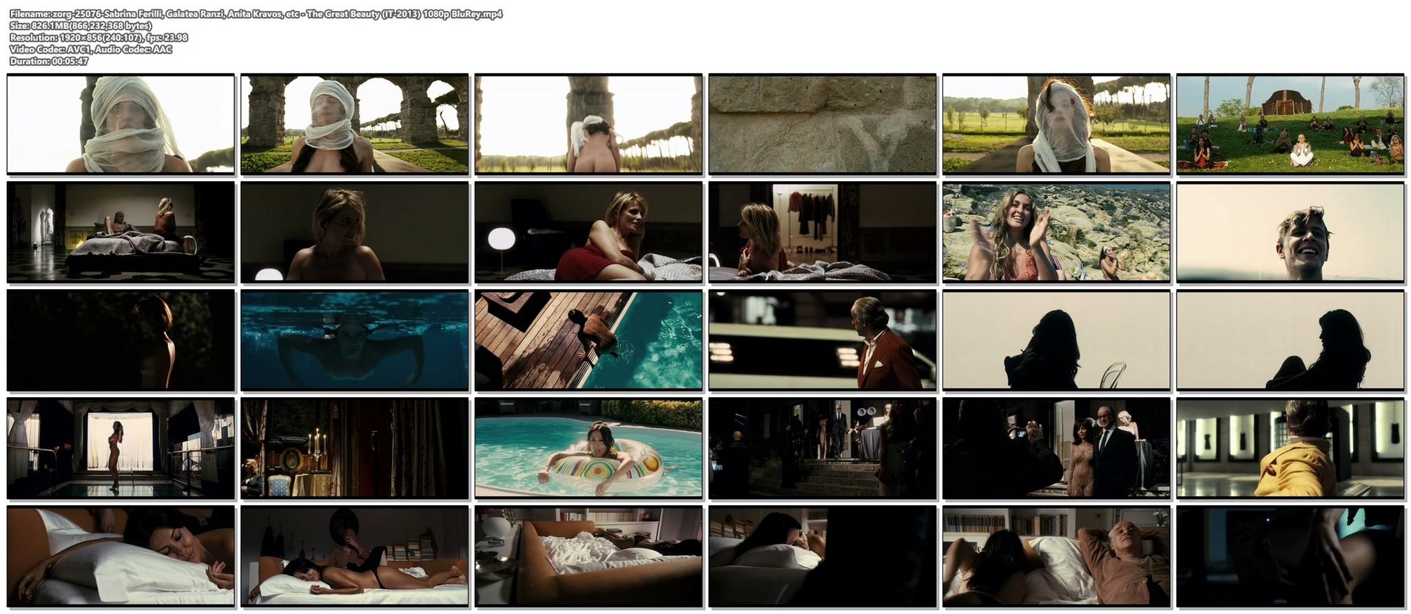 Sabrina Ferilli nude Anita Kravos full frontal Galatea Ranzi and others nude and sexy The Great Beauty IT 2013 1080p BluRey 20