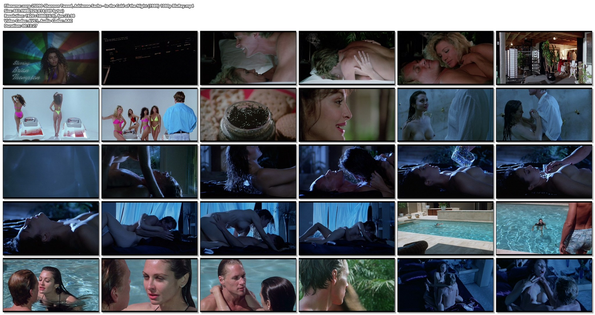 Shannon Tweed nude sex Adrienne Sachs nude sex in the shower In the Cold of the Night 1989 1080p BluRay 19