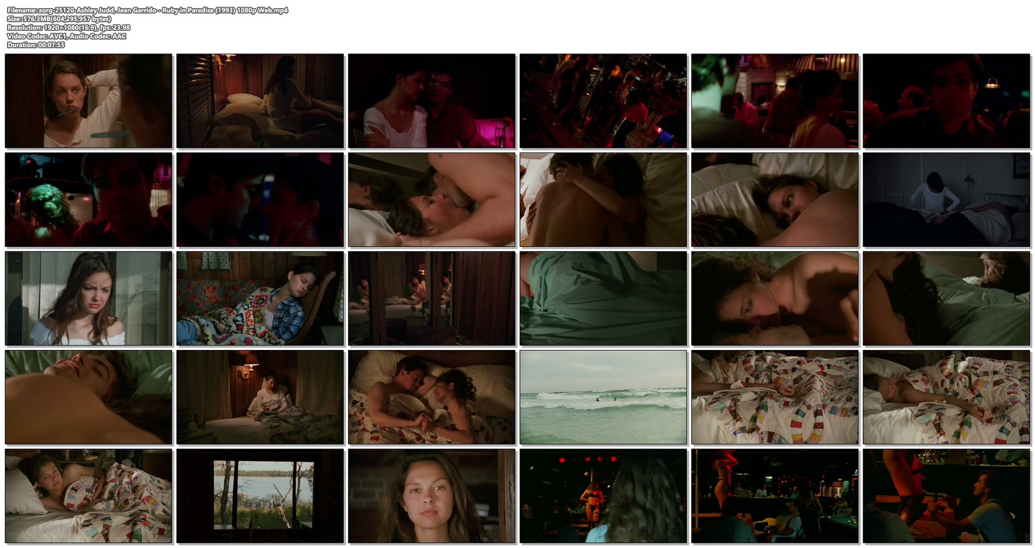 Ashley Judd sexy and some sex Jean Garrido nude Ruby in Paradise 1993 1080p Web 17