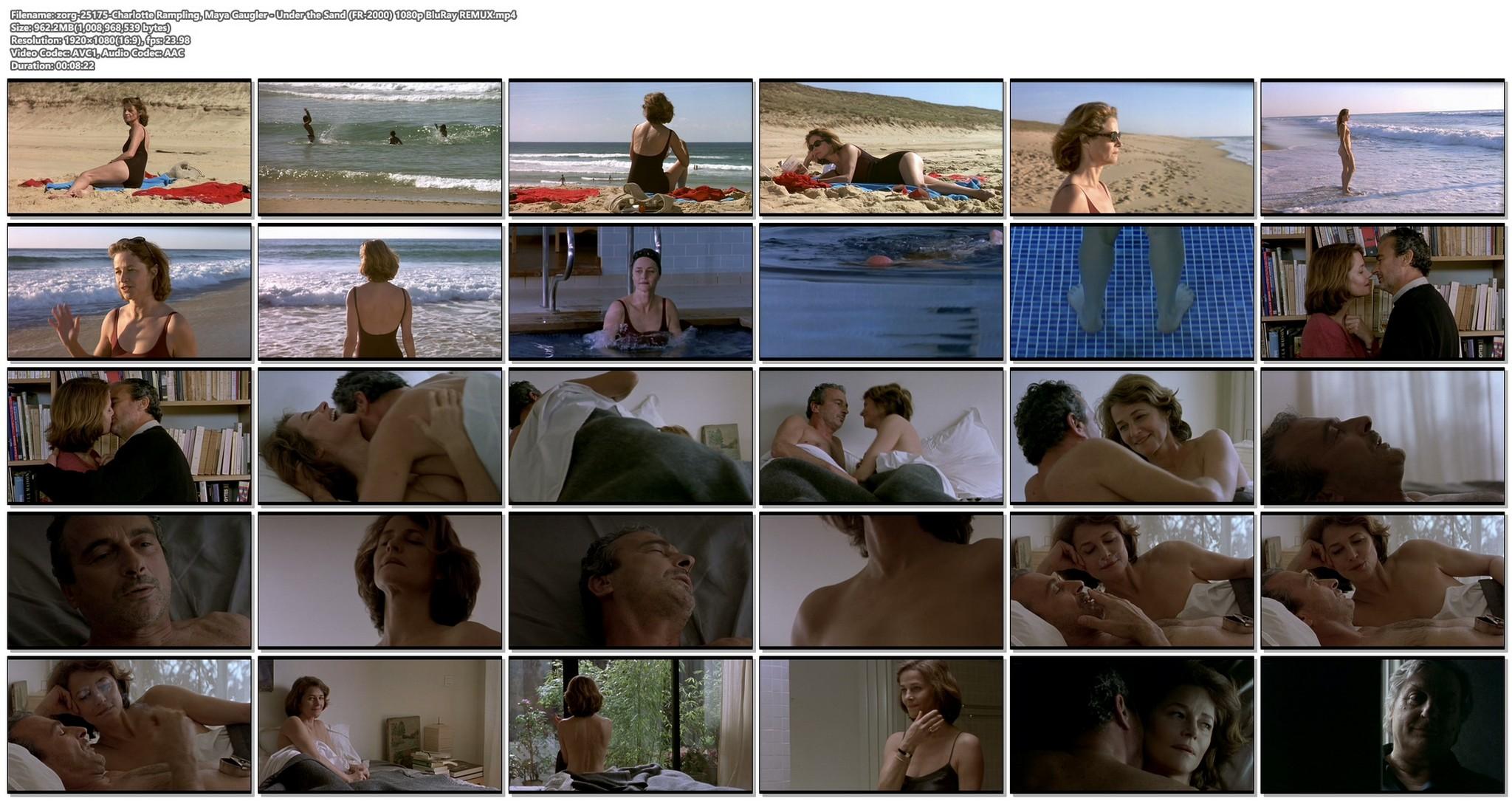 Charlotte Rampling nude sex Maya Gaugler nude full frontal Under the Sand FR 2000 1080p BluRay REMUX 12