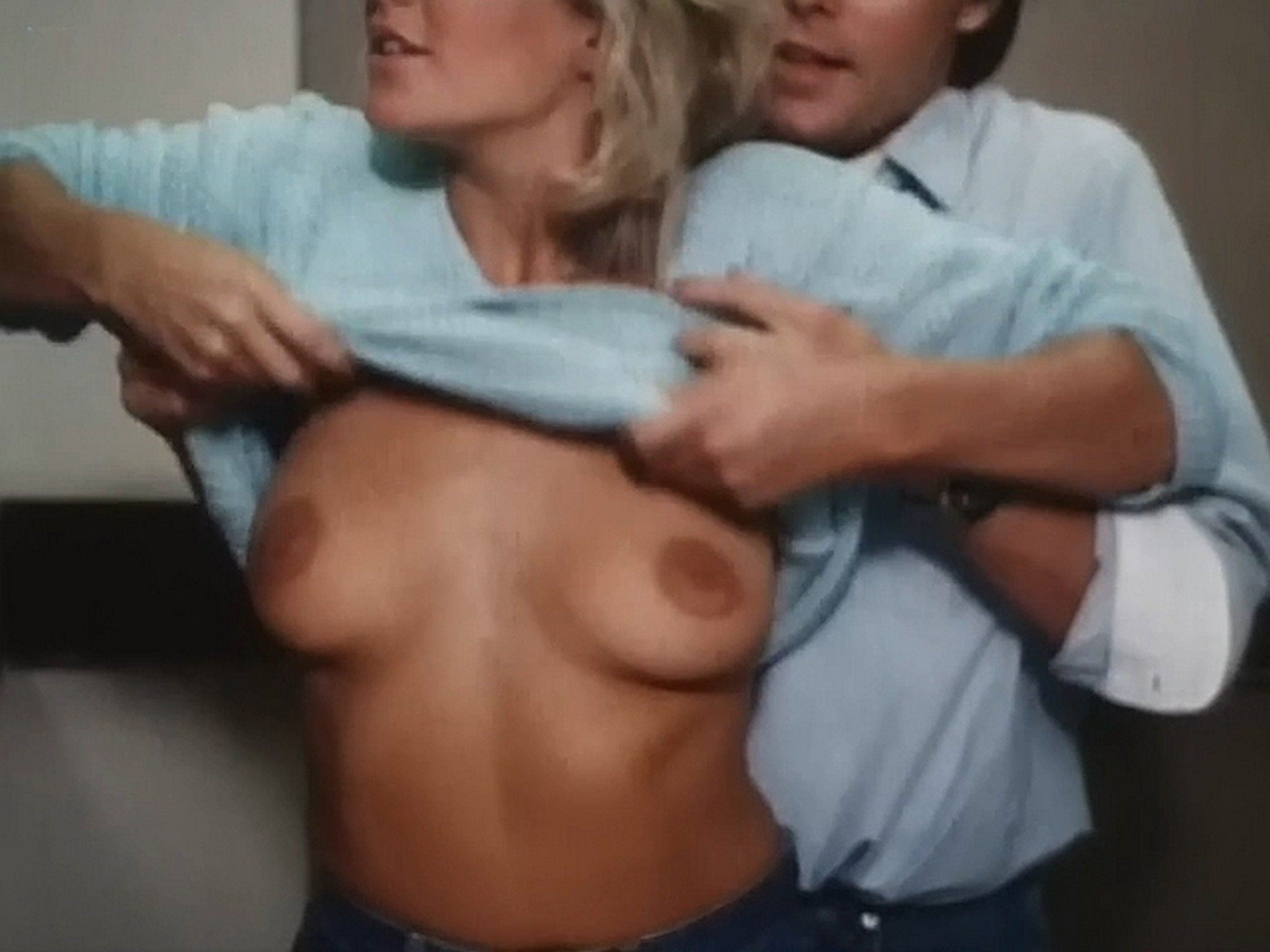 Kim Evenson nude full frontal Monique Gabrielle Sylvia Kristel all nude bush and full frontal The Big Bet 1985 DVDRip 16