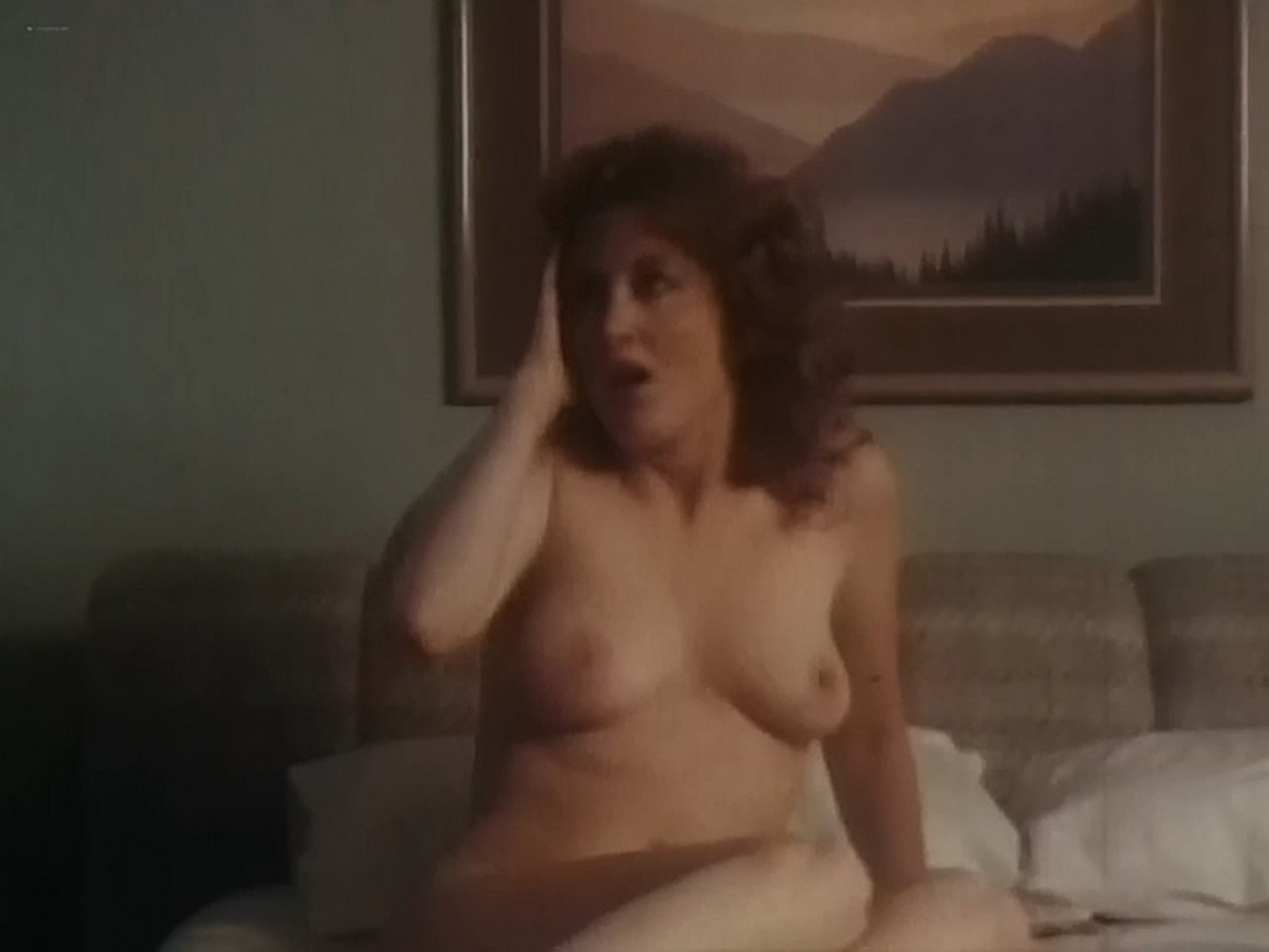 Kim Evenson nude full frontal Monique Gabrielle Sylvia Kristel all nude bush and full frontal The Big Bet 1985 DVDRip 17