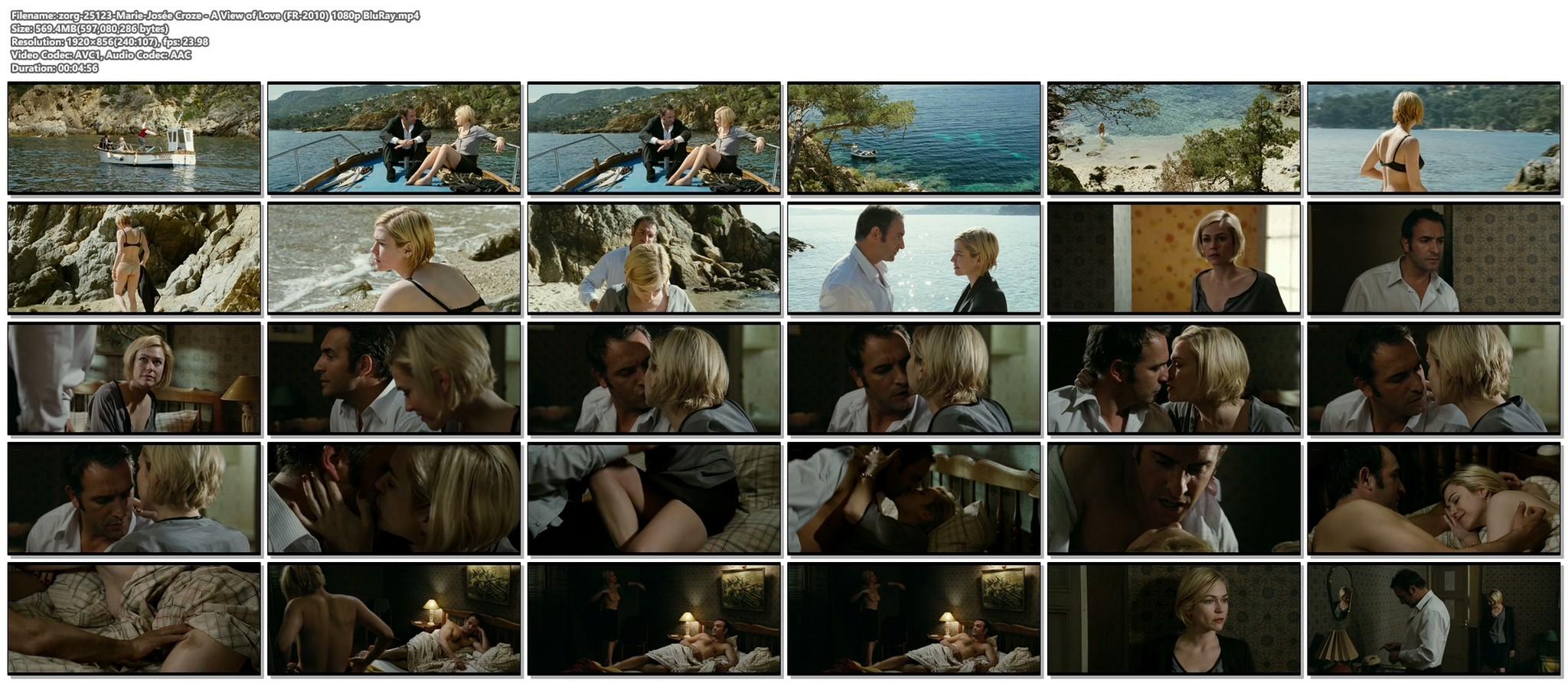 Marie Josee Croze nude wet and sex Un balcon sur la mer FR 2010 BluRay 16
