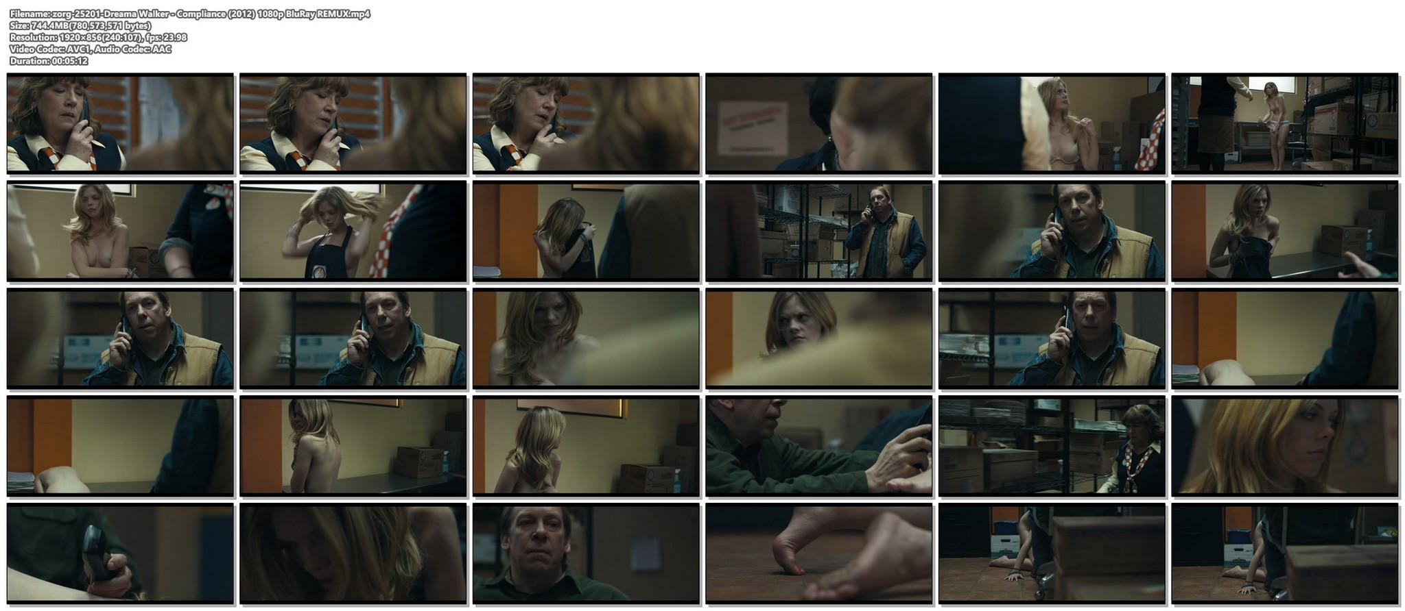 Dreama Walker nude topless Compliance 2012 HD 1080p BluRay REMUX 16