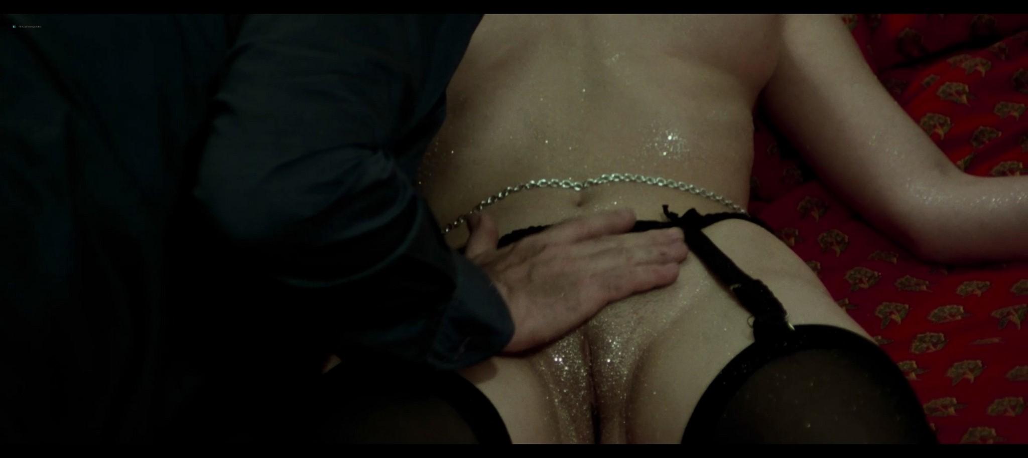 Lina Romay nude explicit and sex Evelyne Scott Monica Swinn nude full frontal Shining Sex 1976 1080p BluRay 17