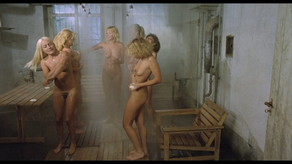 Brigitte Lahaie nude labia and sex Nadine Pascal and others nude full frontal Sechs Schwedinnen im Pensionat 1979 1080p BluRay 13