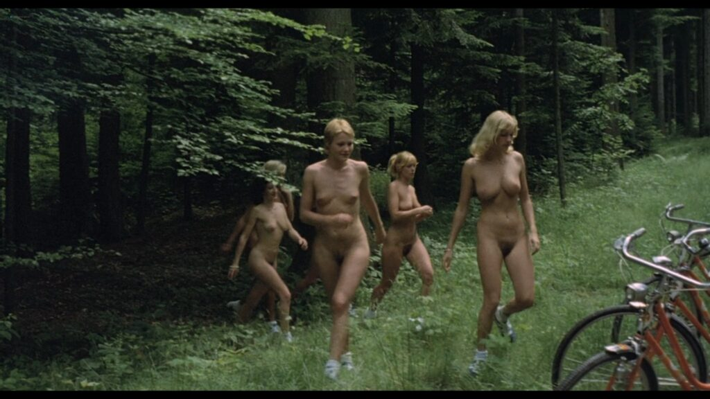 Brigitte Lahaie nude labia and sex Nadine Pascal and others nude full frontal Sechs Schwedinnen im Pensionat 1979 1080p BluRay 15
