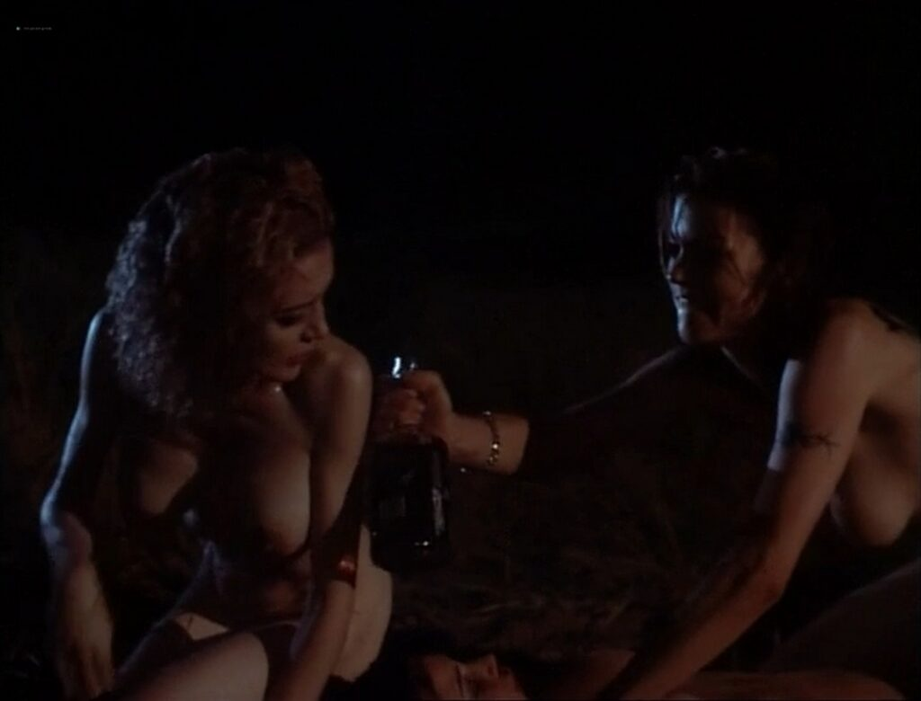 Carla Gugino nude topless butt Anna Levine and Rya Kihlstedt all nude Jaded 1998 17
