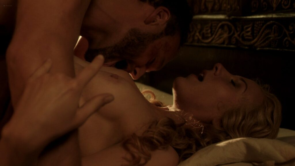 Jeany Spark nude full frontal and sex Da Vincis Demons 2014 S2 1080p BluRay 2