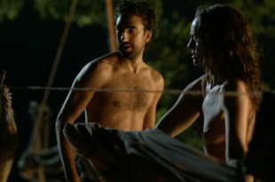 Laura Haddock nude Dilan Gwyn Estella Daniels nude sex Da Vincis Demons 2014 S2 1080p BluRay 3