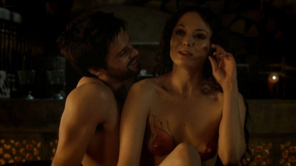 Laura Haddock nude full frontal bush and sex Da Vincis Demons 2013 S1 1080p BluRay 6