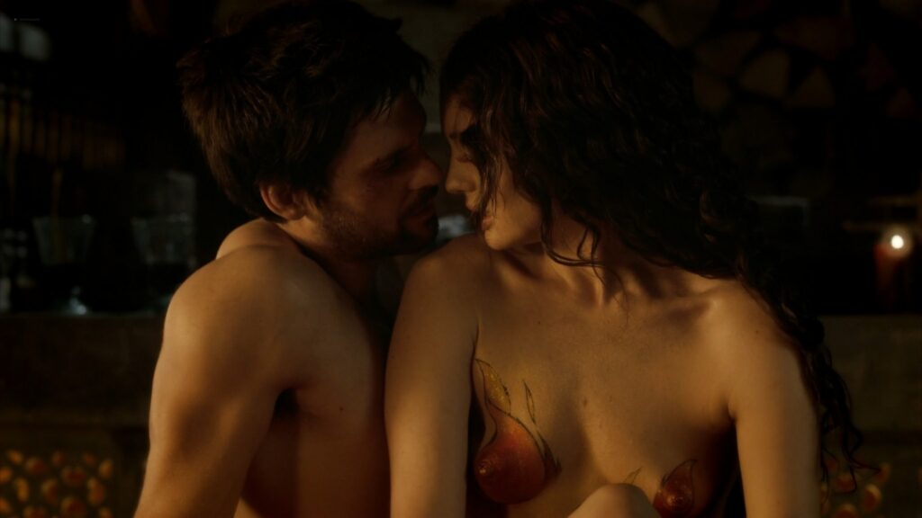 Laura Haddock nude full frontal bush and sex Da Vincis Demons 2013 S1 1080p BluRay 7