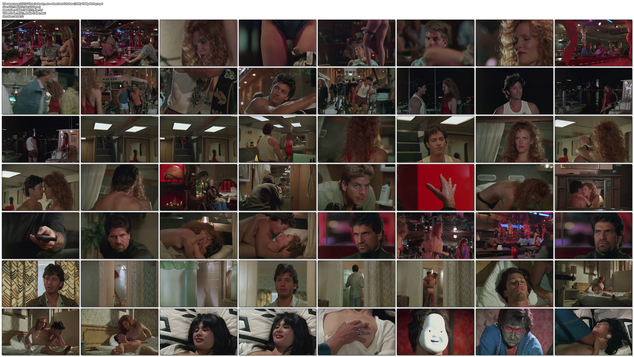 Victoria Prouty nude and sex in the shower American Rickshaw 1989 1080p BluRay 19