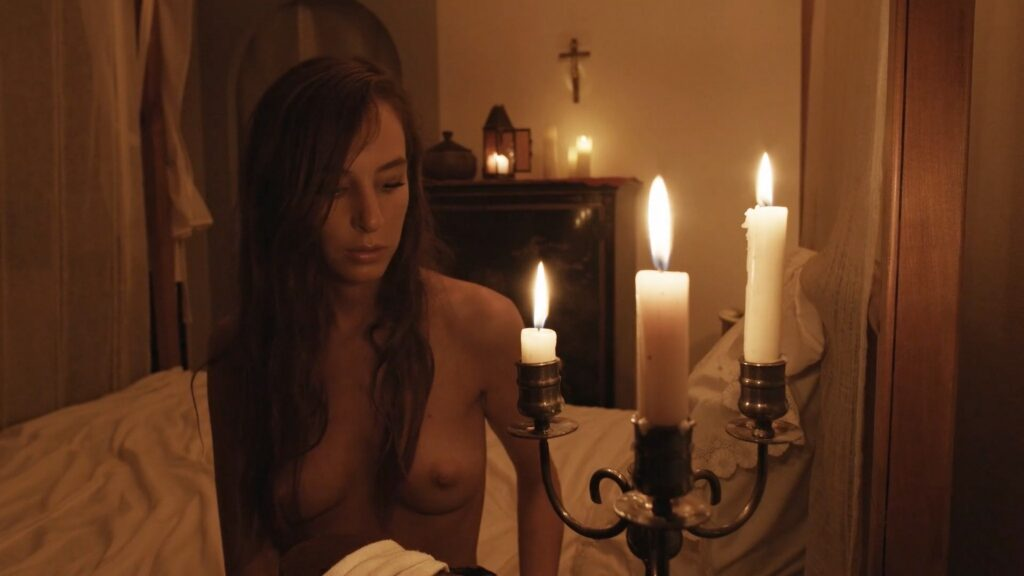 Laura Houvenagel nude full frontal butt and topless The Book of Antichrist 2021 1080p 4