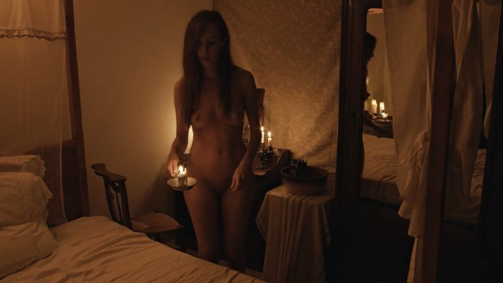 Laura Houvenagel nude full frontal butt and topless The Book of Antichrist 2021 1080p 6
