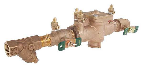 Watts 1 Lf009m2 Qt S 403 99 Reduced Pressure Zone Backflow Preventer Zoro Com