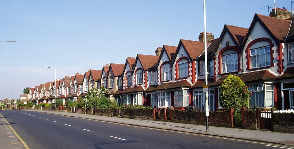 Casas ao norte de Londres   Foto: Wikimedia