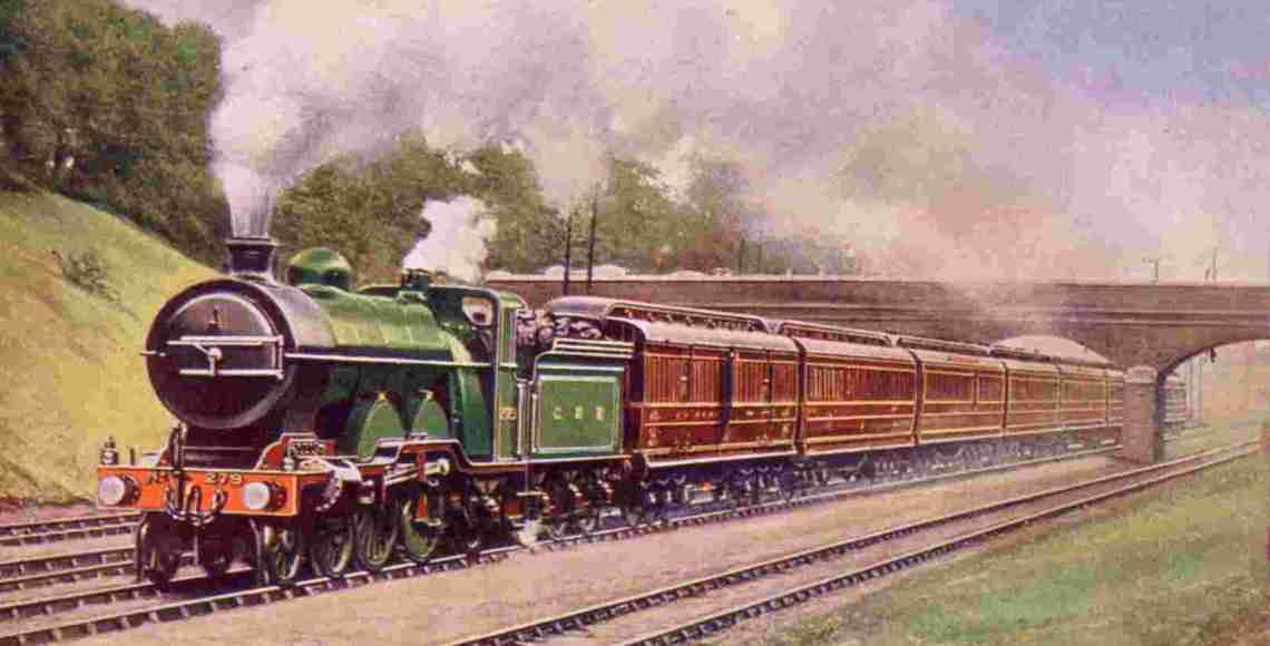 Cartão postal estampa o Flying Scotsman
