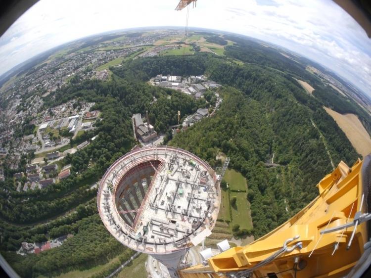 Construção da torre da ThyssenKrupp | Foto: Divulgação